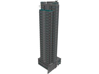 HK Residential Tower 3D Model