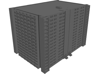 Apartment Tower Warsaw 3D Model