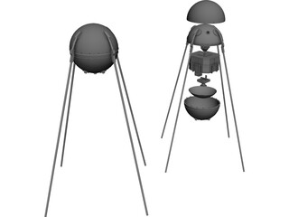Sputnik Satellite 3D Model
