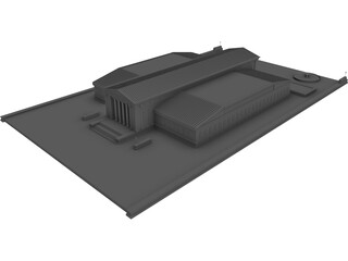 Supreme Court Building 3D Model