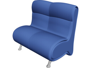 Arm Chair Blues 3D Model