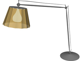 Hinge-Arm Table Lamp 3D Model