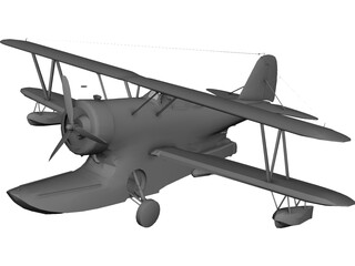 Grumman J2F Duck 3D Model