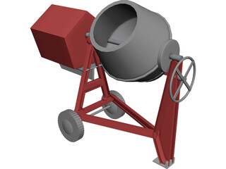 Portable Mixer 3D Model
