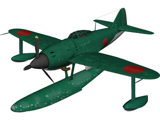 Kawanishi N1K1 Kyofu 3D Model