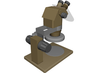Single Dioptor Stereo Mcroscope 3D Model