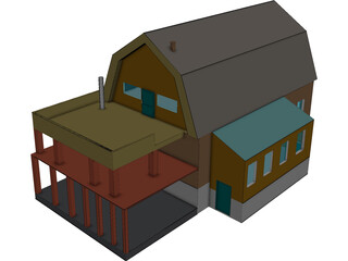 Russian Village House  3D Model