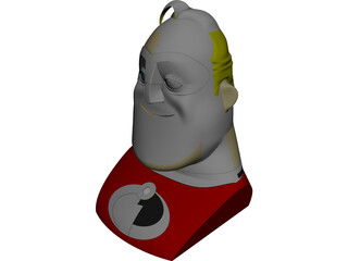 Mr. Incredible Head 3D Model