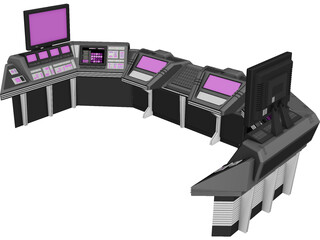 Workstation Console 3D Model