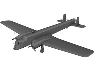 Armstrong Whitworth Whitley 3D Model