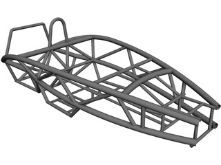 Ariel Atom Car Frame CAD 3D Model