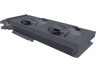 EVGA GeForce GTX 1070 Black Edition CAD 3D Model