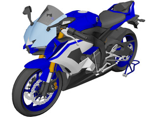 Yamaha YZF-R6 3D Model 3D Preview