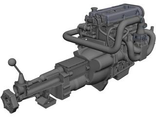 Ford Zetec Engine CAD 3D Model