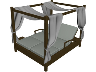 Balinese Bed 3D Model