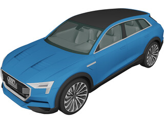 Audi E-tron Quattro Concept (2015) 3D Model 3D Preview