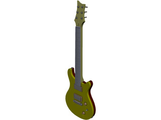 Daves Guitar CAD 3D Model