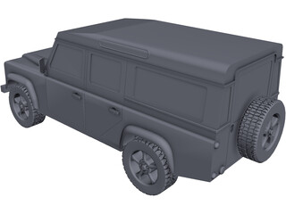 Land Rover Defender 110 CAD 3D Model