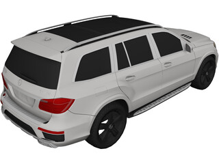 Mercedes-Benz GL550 4Matic (2014) 3D Model