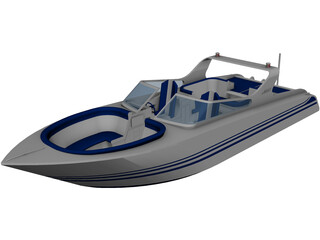 Speed Boat 3D Model