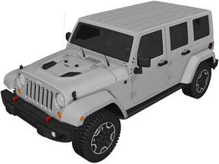 Jeep Wrangler (2014) 3D Model 3D Preview