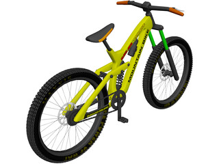 Mountain Bike Downhill 3D Model