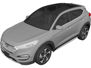 Hyundai Tucson (2019) 3D Model