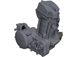 Honda CRF250R Engine CAD 3D Model