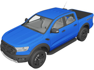 Ford Ranger Raptor (2018) 3D Model