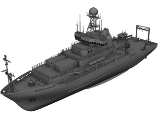 NOAA Ocean Research Ronald Brown 3D Model