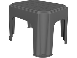 Plastic Stool CAD 3D Model
