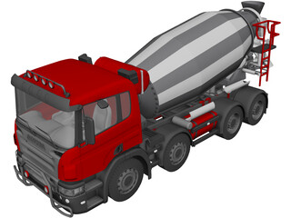 Scania Cement Truck 3D Model