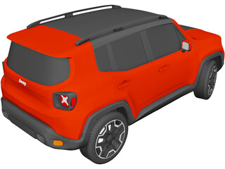 Jeep Renegade Latitude (2015) 3D Model