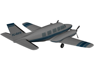 Piper PA-31 Navajo 3D Model