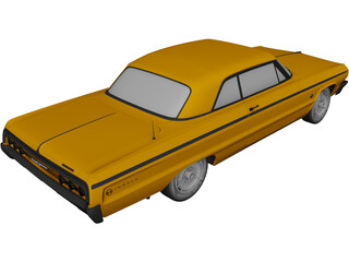 Chevrolet Impala SS 2-Doors (1964) 3D Model