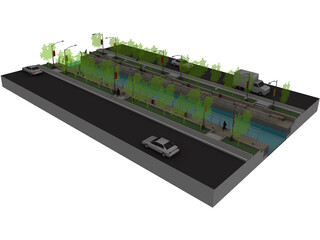 Landscape Mini Water Ways 3D Model