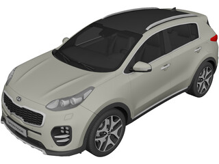 Kia Sportage (2016) 3D Model 3D Preview