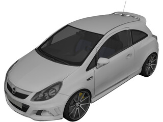 Opel Corsa OPC 3D Model 3D Preview