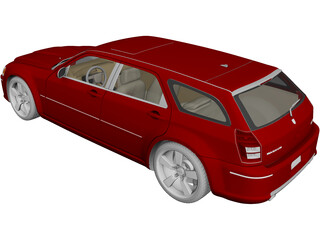 Dodge Magnum SRT8 (2008) 3D Model