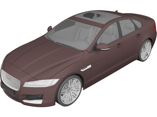 Jaguar XF (2016) 3D Model 3D Preview