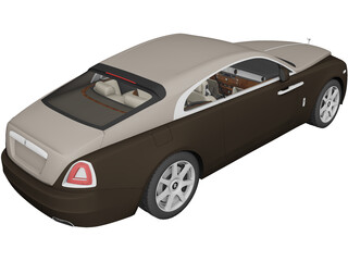 Rolls-Royce Wraith (2014) 3D Model 3D Preview