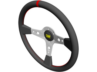 OMP Racing Steering Wheel 3D Model