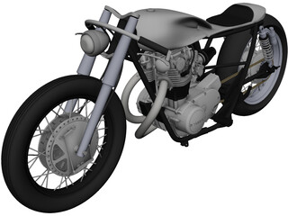 Yamaha Custom Bike CAD 3D Model