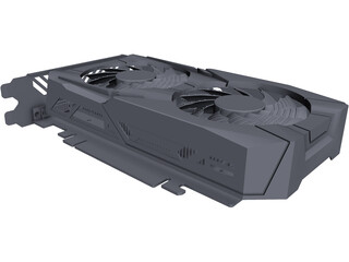 Gigabyte Nvidia GTX1050 Graphics Card CAD 3D Model