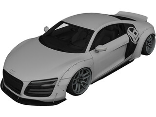 Audi R8 V10 Liberty Walk (2014) 3D Model 3D Preview