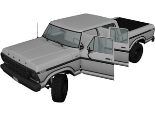 Ford F-Series Crewcab (1978) 3D Model