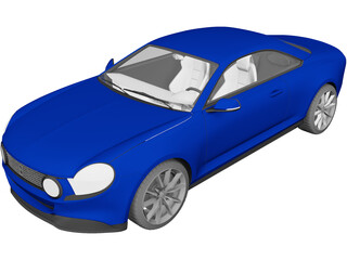 Fiat Torino Concept Coupe 3D Model 3D Preview