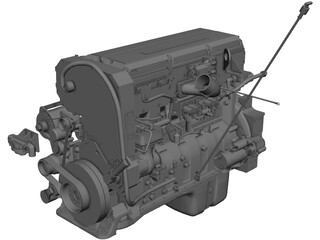 Cummins QSX15 Engine CAD 3D Model