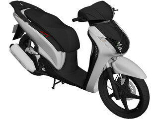Honda SH 150i Sporty 3D Model 3D Preview
