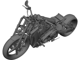 Custom Bike 3D Model 3D Preview